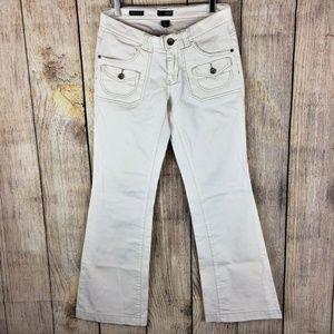 A.N.A. Modern Flare Leg White Denim Jeans Sz 6